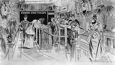 Kinetoscope, 1890s Art Print by Granger