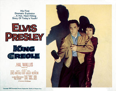 King Creole, Elvis Presley, Carolyn Art Print by Everett