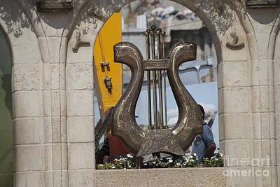 Statue Of David Photograph - King David's Harp by Avi Horovitz