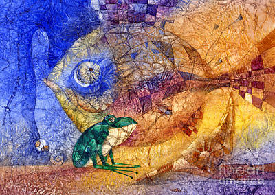 Frogs Mixed Media - King-fish by Svetlana and Sabir Gadghievs