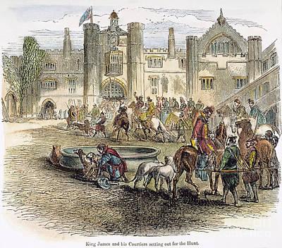 King James I On Hunt Art Print by Granger