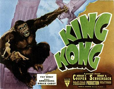 1933 Movies Photograph - King Kong, 1933 Rko Re-issue Poster by Everett