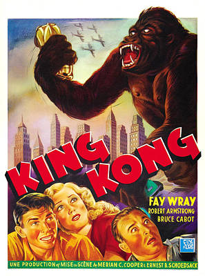 King Kong, Bottom Left, From Left Bruce Art Print by Everett