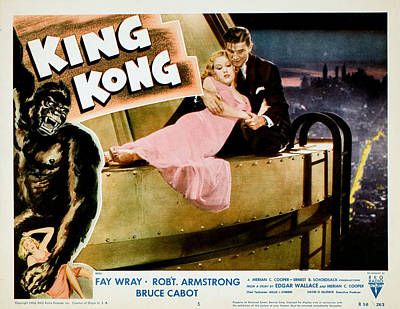King Kong, Fay Wray, Bruce Cabot, 1933 Print by Everett