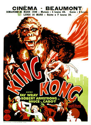 King Kong, French Poster Art, 1933 Art Print