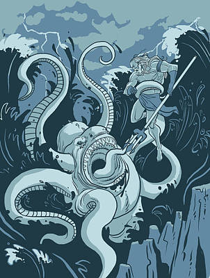 King Neptune Print by Michael Myers