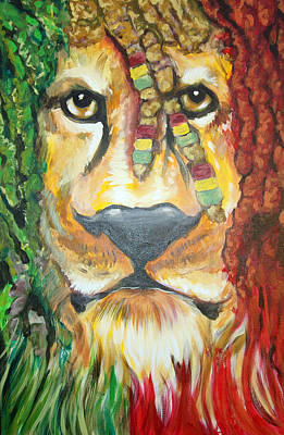 Painting - King Of Jamaica by Ottoniel Lima Lorinda Fore and Matt Callahan