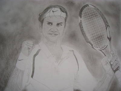 Roger Federer Painting - King Of Our Times by Mohammed Shareef