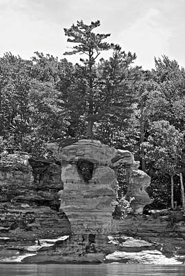 King Of The Hill Pictured Rocks Print by Michael Peychich