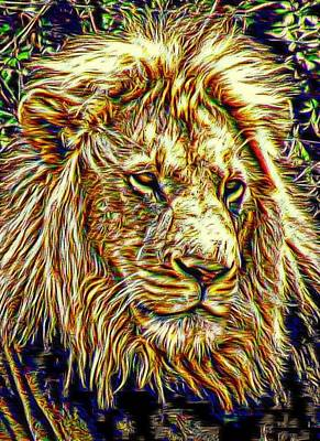 Digital Art - King Of The Jungle by Carrie OBrien Sibley