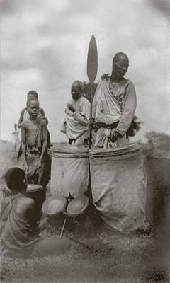 1920s Candid Photograph - King Of Uganda Back Center by Everett