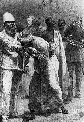 King Riouga And Samuel Baker, 1869 Art Print