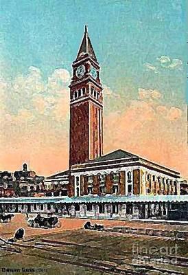 King St. Railroad Station In Seattle Wa In 1910 Art Print by Dwight Goss