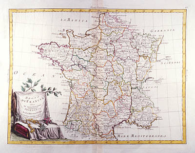 Kingdom Of France Divided Into Its Governments Art Print by Fototeca Storica Nazionale