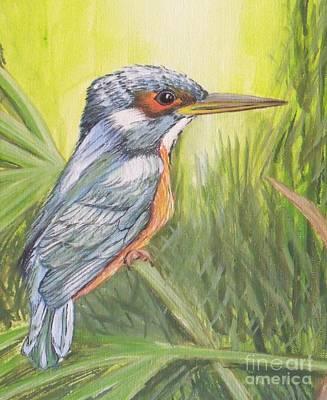 Kingfisher Art Print by Debra Piro