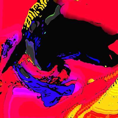 Kingfisher Digital Art - Kingfisher Taking A Fish by Jamie ian Smith