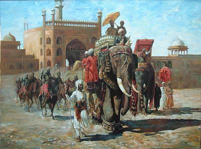 Painting - Kings Arrival by Jaffo Jaffer