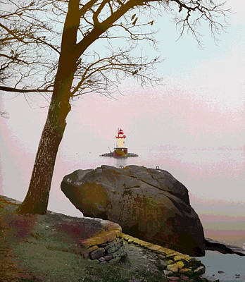 Kingsland Point Park Lighthouse Art Print by Charles Shoup