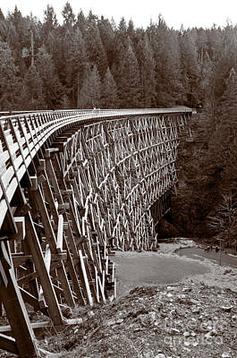 American West - KINSOL HISTORIC trestle in sepia by Andy Smy