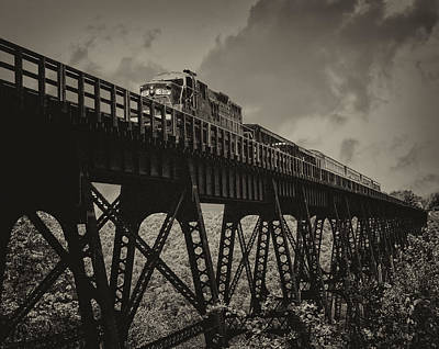 Kinzua Photograph - Kinzua Viaduct by Wade Aiken