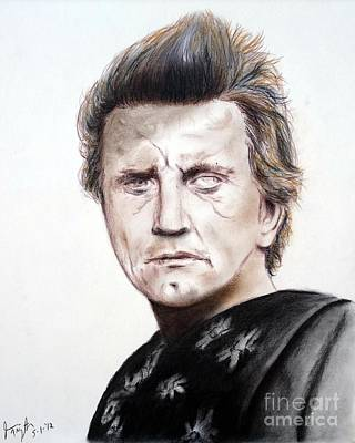 Drawing Drawing - Kirk Douglas In The Vikings by Jim Fitzpatrick