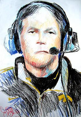Hawkeye Drawing - Kirk Ferentz  by Jon Baldwin  Art