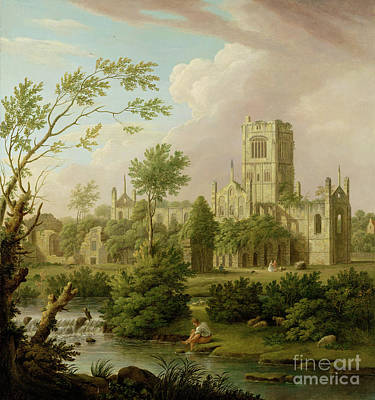 Ruins Photograph - Kirkstall Abbey - Yorkshire by George Lambert