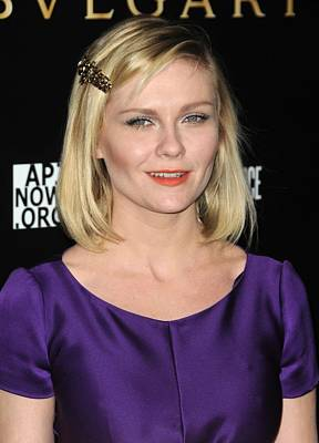 Barrette Photograph - Kirsten Dunst At Arrivals For Bvlgari by Everett