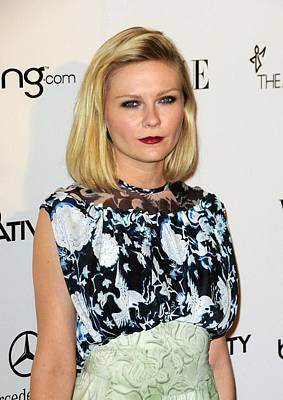 Kirsten Dunst Wearing A Rodarte Dress Art Print