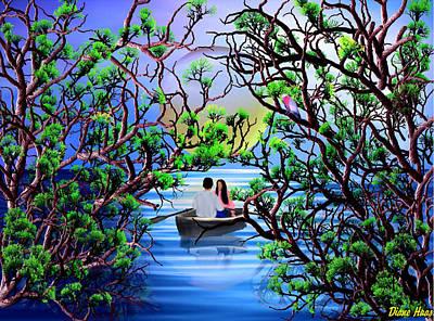 Rowboat Digital Art - Kiss The Girl by Diane Haas