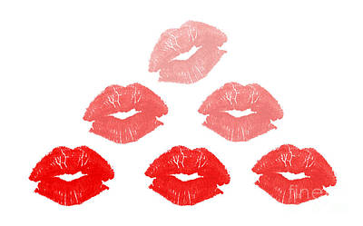 Kisses In Pyramid Shape Art Print by Blink Images