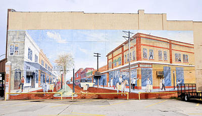 Florida Cracker Photograph - Kissimmee Street Mural by David Lee Thompson