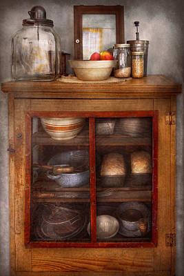 Kitchen - The Cooling Cabinet Art Print by Mike Savad