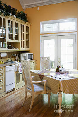 Kitchen Cabinets And Table Art Print by Andersen Ross