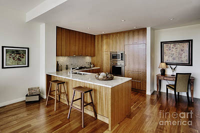 Upscale Photograph - Kitchen In Upscale Condo by Andersen Ross