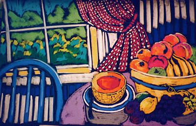 Pastel - Kitchen Still Life by Doris  Lane Grey