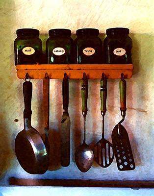 Digital Art - Kitchen Utensils by Timothy Bulone