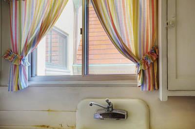 Kitchen Window Of Former Residential Art Print by Douglas Orton