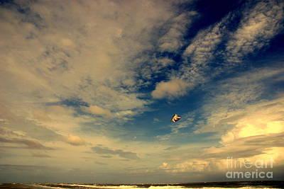 Kite At Folly Beach Near Charleston Sc Art Print by Susanne Van Hulst