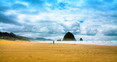 Coastal Photograph - Kite Flyer At Cannon Beach by David Patterson