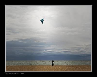 Kite In The Sky Art Print by Pedro L Gili