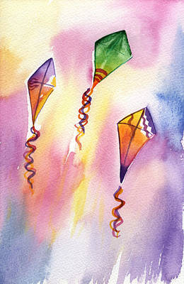 Kite Wall Art - Painting - Kite Rockets by Lydia Irving