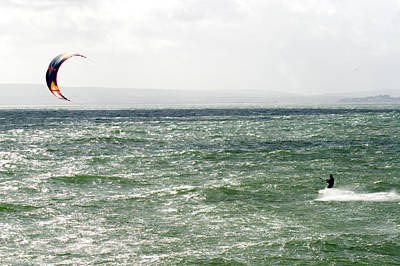 Photograph - Kite Surfing by Chris Day