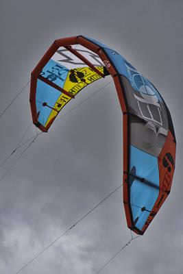 Kite Surfing Art Print by Douglas Barnard