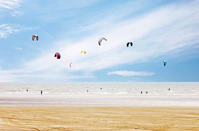 Kiteboarding Photograph - Kiteboarder Paradise by Richard Newstead