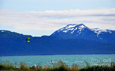 Kitesurfing In Alaska Art Print by Tanya  Searcy