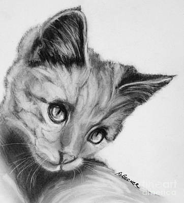Kitten Cameo Art Print by Susan A Becker