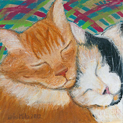 Painting - Kittie Love by Ania M Milo