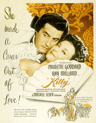 Kitty, Ray Milland, Paulette Goddard Art Print