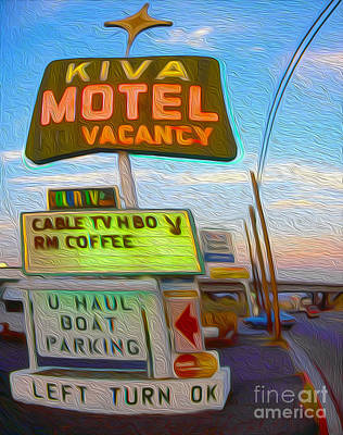 Kiva Motel - Needles Ca Art Print by Gregory Dyer